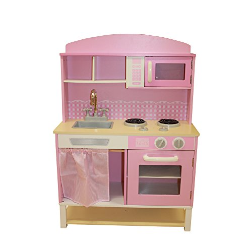 Liberty House Toys Wooden Let's Cook Kitchen Set (Pink)