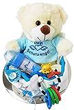 Windeltorte mit Schutzengel Teddy Stoffwindel Spielzeug uvm Geschenk zur Geburt