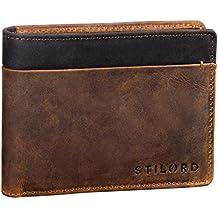 262854a99 STILORD 'Sterling' Cartera RFID Hombre Cuero Portamonedas NFC Bloqueo  Monedero Clásico Billetera Portatarjetas de