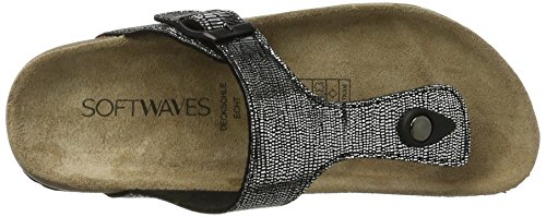 Softwaves 274 370, Mules Femme Schwarz (Black)