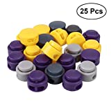 #10: TOYMYTOY Round DIY Spring Fastener Cord Lock Toggle Stopper Buttons - 25pcs (Random Color)