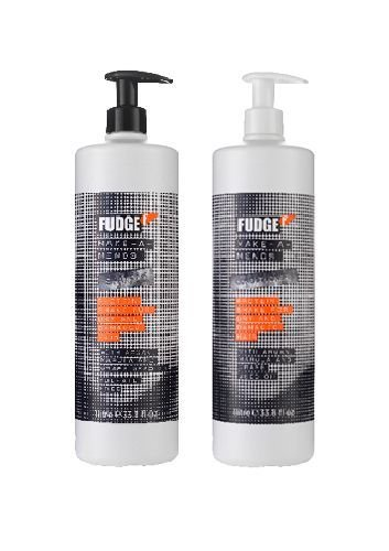 FUDGE MAKE A MENDS SHAMPOO 1000ML AND CONDITIONER 1000ML SALON SIZE + PUMPS DUO by Fudge (Ingwer Behandlung Für Die Haare)