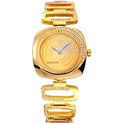 Mode Strass Edelstahlarmband Quarz Armbanduhr Für Damen