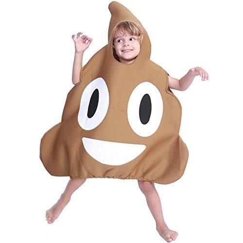 GLOBEAGLE Niedliche Kinder Jungen Mädchen Kostüme Poop Jumpsuit Halloween Cosplay Funny Kleid