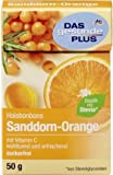 DAS gesunde PLUS Halsbonbons Sanddorn-Orange zuckerfrei, 50 g