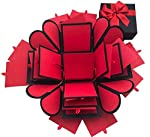 Crack of Dawn Crafts 3 Layered Heart Explosion Box Red Romance