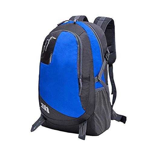 LQABW Bequeme Und Atmungsaktive Studenten Schulter Im Freien Große Kapazitäts-Reisen Ultra-Light Portable Sports Wandern Rucksack Tasche Blue