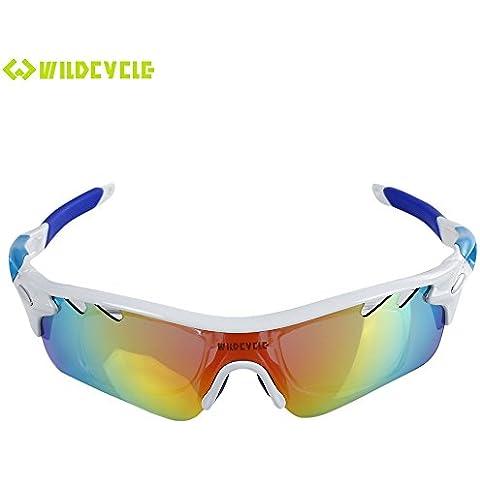 iGarden polarizadas gafas de deporte con 4lentes intercambiables para hombres mujeres ciclismo Golf conducción pesca Running, TR90Unbreakable marco, antivaho, resistente al agua lente,