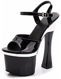 b4a393ca5e693 YMFIE La moda sexy sexy banchetto confortevole alta partito scarpe col tacco  estate lady dita tacchi alti e…