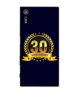 Sony Xperia XZ, Sony Xperia XZ Dual F8332 Back Cover 30th Aniversary Golden Logo Design From FUSON