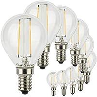 Bombillas 5,5 W, E27, C37, mate, 200°, 470 lm, luz blanca cálida, 3000 K, sin parpadeo Eléctrica industrial Juego de 10 bombillas LED