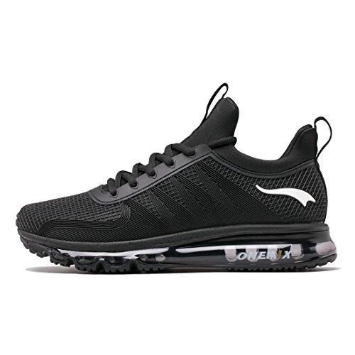 Onemix Hombre Zapatos Deportivos Zapatillas de Entrenamiento de Carrera en Asfalto Running Deportes para Hombre Negro 39