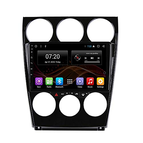2.5D IPS Android 8.1 Car DVD Radio GPS Navigation for Mazda 6 2002-2008 Stereo Audio Navi Video with Bluetooth Calling WiFi Touch Screen (Android 8.1 1+16G for Mazda 6 2002-2008) -