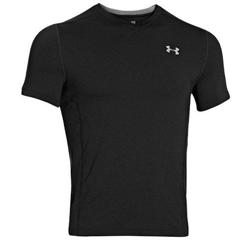 Under Armour Herren Shirt Heatgear Armourvent Fitted Short Sleeve T, Black/Stl, XXL