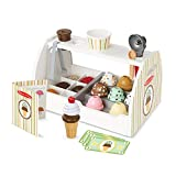 Melissa & Doug Wooden Scoop & Serve Ice Cream Counter (Play Food and Accessories, 28 Pieces, Realistic Scooper, 34.544 cm H x 21.844 cm W x 19.558 cm L)