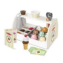 Melissa & Doug Wooden Scoop & Serve Ice Cream Counter (Frustration-Free Packaging)