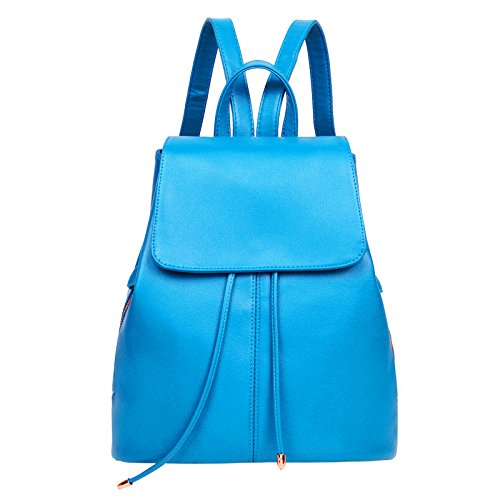 Mefly British Ladies Zaino College Vento Stile Coreano Marea Student Travel Bag Rosa blue