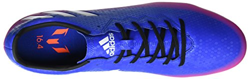 adidas Messi 16.4 Fxg, Scarpe da Calcio Uomo Blu (Blue/ftw White/solar Orange)