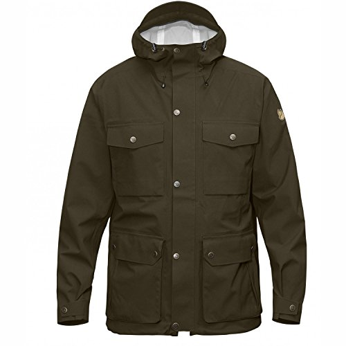 Fjällräven Herren Övik Eco-Shell Jacket Softshelljacke, Dark Olive, 2XL