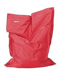 Roomox Original Kinder-Sitzsack-130x100cm-für drinnen & draußen Junior Kinder-Sitzsack, Stoff, Rot, 130x100x30 cm
