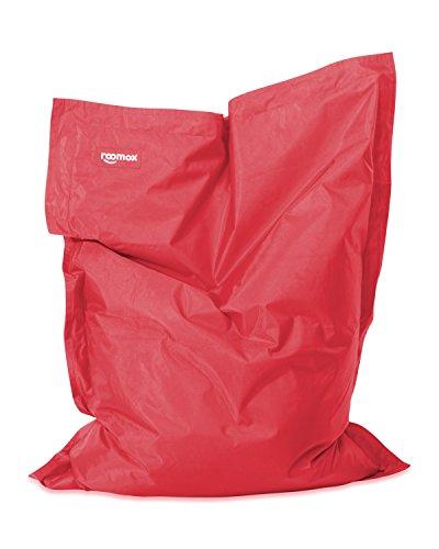 ROOMOX Original Junior Kinder-Sitzsack für drinnen und draußen Stoff 130 x 100 x 30 cm, rot