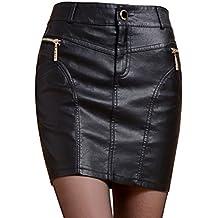 a602aa11335c2 Helan femmes faux cuir jupe Avec des boutons et fermeture Noir