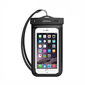 BRIMA Waterproof Pouch Cover for Mobile Phones(Black)