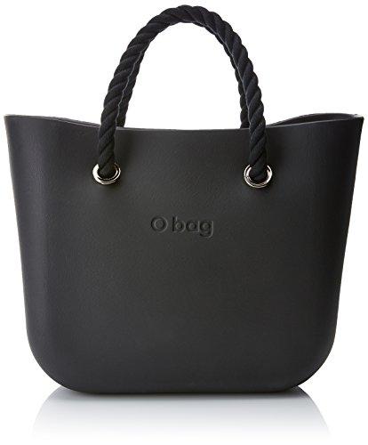 O bag b002_055 zip, borsa a mano donna, multicolore (nero), 11x31x40 cm (w x h x l)