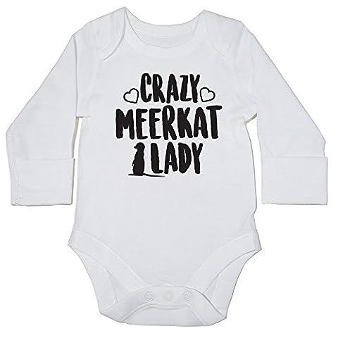 hippowarehouse Crazy suricate Lady Body bébé () à manches longues pour garçons filles - blanc - 6 mois