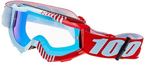 Inconnu 100% Accuri MTB-Brille, Mountainbike, Unisex, Erwachsene, Rot/Weiß