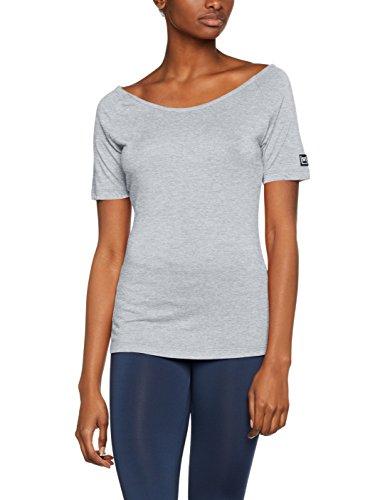 super.natural Damen W Essential Scoop Neck Tee Merino Sport und Freizeitshirt, Grau, 38/40 (Neck Scoop Tee Jersey)