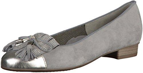 ARA BARI 33727 SILBER ACQUA BALLERINA CON FRANGIA Grau(Grau/Silber)