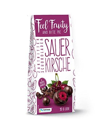 FEEL FRUITY Sauerkirsche in Zartbitterschokolade, 90 g