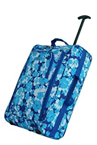 "Wheeled Cabin Hand Luggage Floral 20"" Cabin Holdall Travel Bag Easyjet Ryanair"