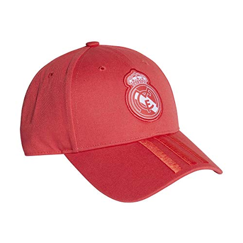 adidas Erwachsene 3 Stripes Kappe, Real Coral/Vivid Red/White, OSFM - Visor Stripe Cap