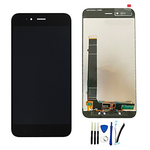 """Pantalla Táctil LCD de Digitalización Asamblea Pantalla de Recambio para Xiaomi Mi5X / Mi 5X / MiA1 / Mi A1 5.5"""" Negro Sin Marco"""
