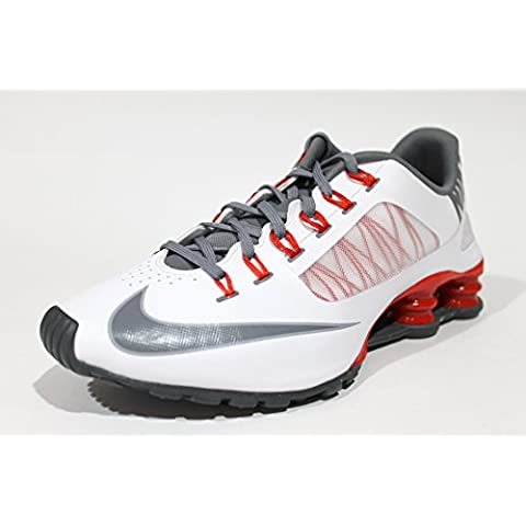 Nike Men's Shox Superfly R4 White/Red Running Shoes 653480 100 size 10