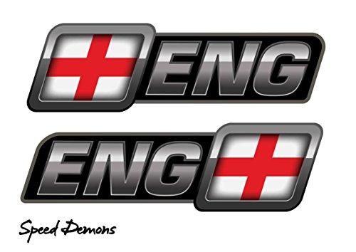 BITS4REASONS Speed Demons Seite Flash Aufkleber Graphic Selbstklebend für Jeden Oberfläche inkl. Laptops, Motorräder, Mopeds und Cars-England Flagge HQ Digital Print