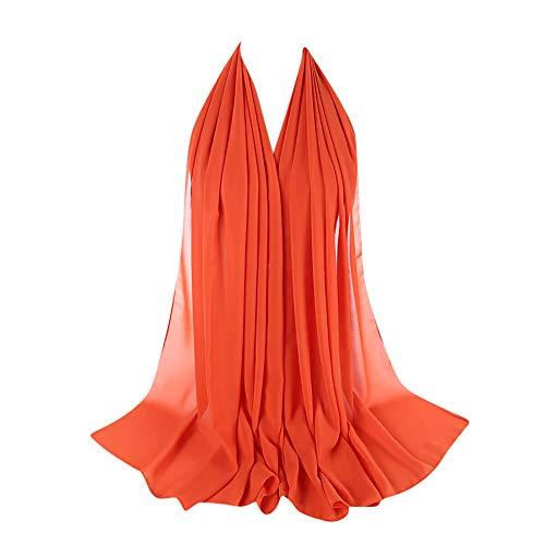 Bubble Wrap Kleid (ZEELIY Muslim Hijab Frau Frauen Plain Bubble Chiffon Schal Chiffon Schal Hijab Wrap Printe Schals Stirnband Muslim Hijabs)