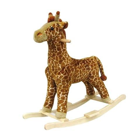 Happy Trails Giraffe Plush Rocking Animal by Happy Trails
