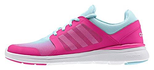 adidas Cloudfoam Xpression W, Chaussures de Sport Femme Rouge / blanc / bleu (rose shocking / blanc Footwear / zest bleu (blue zest))