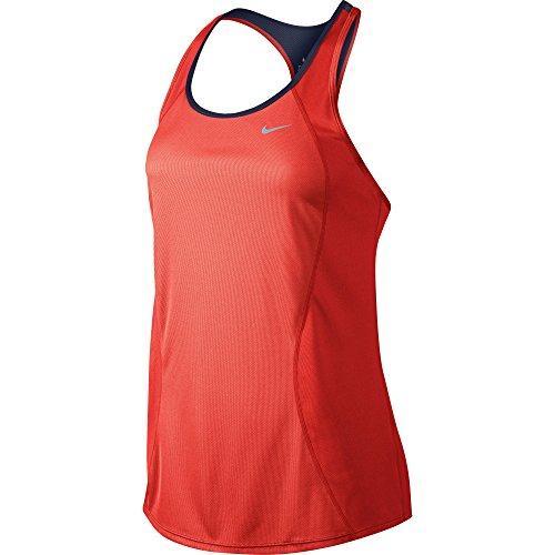 Nike Racer Débardeur Femme Rojo / Negro / Plateado (Bright Crimson/Obsidian/Reflective Silv)