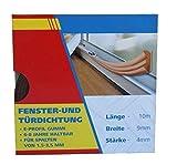 10m Fensterdichtung Türdichtung Dichtungsband Dichtung Gummi SELBSTKLEBEND E-PROFIL Braun