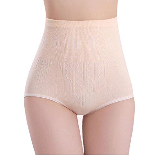 Sannysis ropa interior de alta cintura escultor de cuerpo (Beige)
