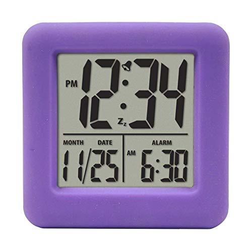 Wiivilik Cubo Silicona Reloj Despertador 12/24 Hora