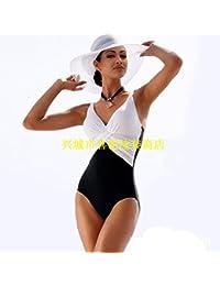MLDYZ Split Split Président Numérique _ Bikini Sexy Bikini Taille Haute Européens Et Américains, Maillot Noir + Blanc Série L