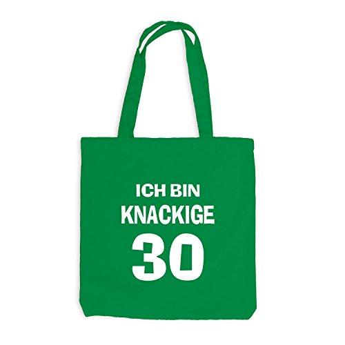Jutebeutel - Ich bin knackige 30 - Geburtstag Birthday Dreißig Kellygrün