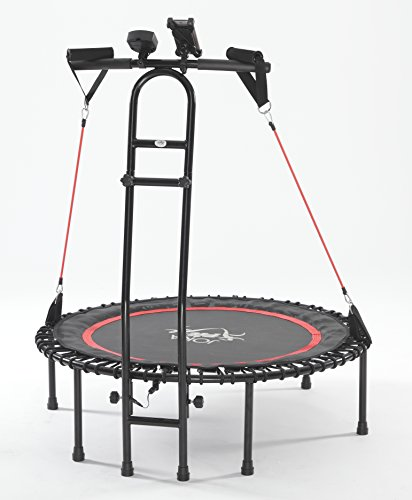 NEU - die Trampolin-Innovation von JOKA FIT, Fitnesstrampolin Cacau 2.0, JOKA Fit, mit Sprungzähler, Widerstandsbänder, DVD, Handyhalterung... be fit with JOKA FIT