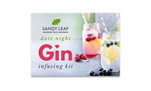 Sandy Leaf Farm Date Night Gin Infusing Kit - Perfect Valentines Day Gift - Have The Ultimate Date Night Gin Experience