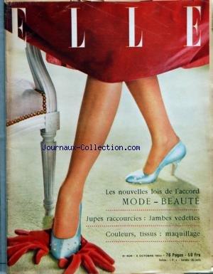 ELLE [No 409] du 05/10/1953 - LES NOUVEL...
